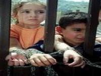 Palestinian Children Chained by Israel