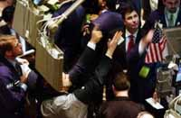 U.S. stocks open busy week moderately higher amid merger news
