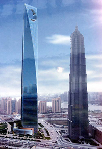 Japanese tycoon builds China's tallest Shanghai World Financial Center