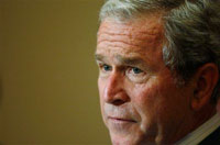 Bush: A lot of people are watching