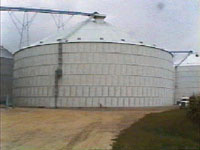 Grain bin collapse traps family of 4 in their house