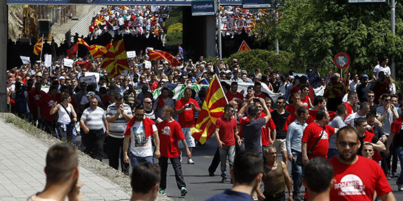 Russia must build strong Orthodox coalition in Europe to defeat the West. Riots in Macedonia