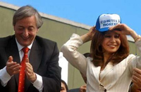 Nestor Kirchner and his wife Cristina Fernandez