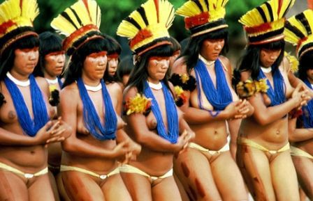 Xingu Indians show how business is done. 56249.jpeg