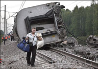 Russian train derailment caused by terrorist attack