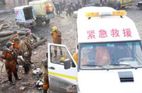 Gas blast in Chinese mine kills 40 people, 74 missing