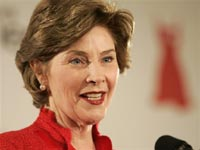 Laura Bush arrives in Saudi Arabia to launch breast cancer screening center