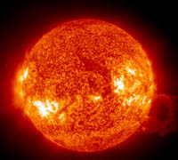 At the Earth is Approaching the Solar Tsunami