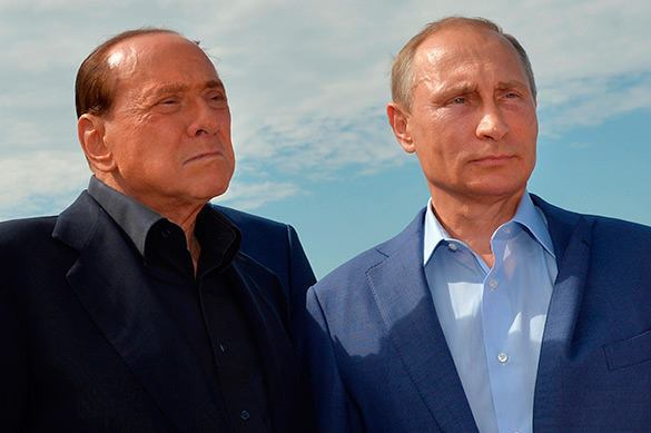 Berlusconi can only care less about Kiev's reaction to his visit to Crimea. Silvio Berlusconi and Vladimir Putin