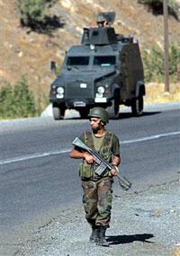 Three Kurdish guerrillas killed by Turkish troops