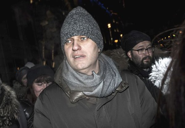 About 1,500 take part in protest action in Moscow after Navalny sentence. Alexei Navalny