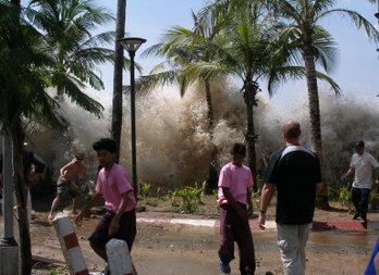 Asian tsunami in Thailand in 2004