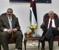 Mahmoud Abbas and Ismail Haniyeh try to restore cease-fire