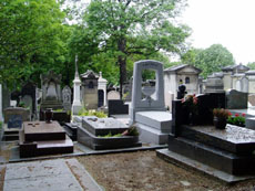 Pere Lachaise cemetery in France