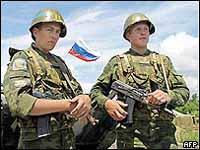 Russian peacekeepers beaten in Georgia's separatist province