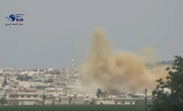 Video of US-led air strike shows explosion of warehouses with chemical weapons. 60282.jpeg