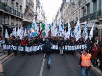 100,000 teachers demonstrate in Lisbon