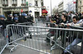 Police escort protesters out of Sorbonne University in Paris