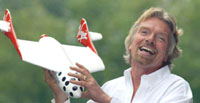 Richard Branson unveils interior mock-up of private spaceship