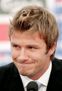 David Beckham's knee injury good news for Bayern