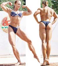 Russian female bodybuilder wins world championship in Spain