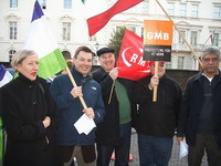 Hungarian trade unions and civic groups protest against government's reforms