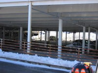 Part of North Carolina shopping mall's parking deck collapses