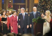 Bushes join musical stars at Christmas concert