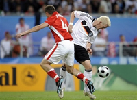 Germany's Poland-born forward scores twice for Germany at Euro-2008
