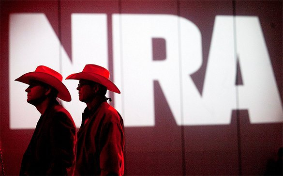 American schoolboy detained refusing to turn his NRA shirt inside out. NRA