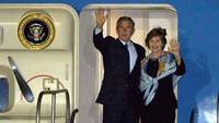 George Bush and Laura Bush