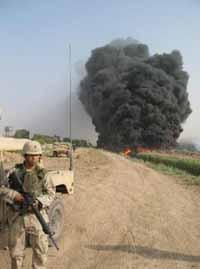 Oil well in northern Iraq set ablaze by vandals