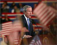 Bush's description of US economy differs greatly from that of Democrats