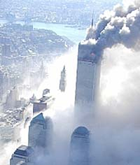 September 11/01 Tragedy as Captured from Above