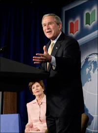 George and Laura Bush thank American Idol for raising 70 million dollars for charity