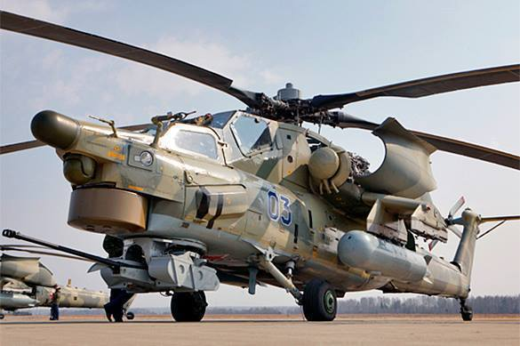 Russian Night Hunters destroy IS column in Syria. Video. Mi-28NE helicopter