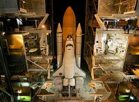 Shuttle Discovery and crew of seven launched into orbit for formidable construction job