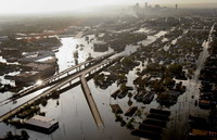 New Orleans under attack of floods