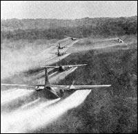 US planes spray agent orange defoliant over Vietnam