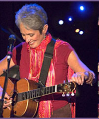 Singer Joan Baez not allowed to perform at US Army hospital