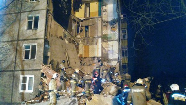 Gas explodes at apartment building in Yaroslavl. Gas explosion in Yaroslavl