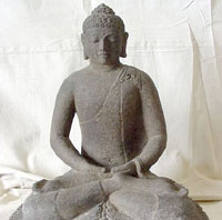 Indonesian museum curator charged with stealing ancient Buddhist statues
