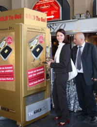 Gold can be available through vending machines in Germany now