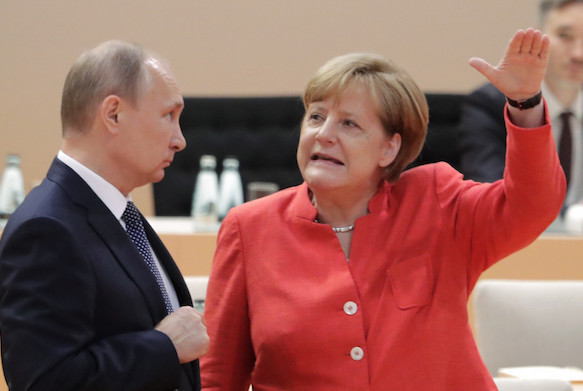 Putin and Merkel determined to continue cooperation after Bundestag elections. 61341.jpeg