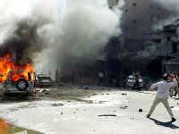 Suicide car bomb explodes near police station in Iraq, six people killed