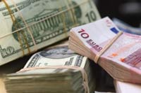 Euro up against U.S. dollar