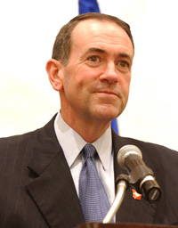 Mike Huckabee second Republican presidential candidate