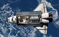 Shuttle Discovery chasing international space station