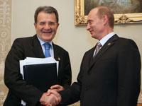 Italian Prime Minister Romano Prodi visits Russia