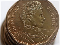 Chile Mint Coins With Error in Country Name